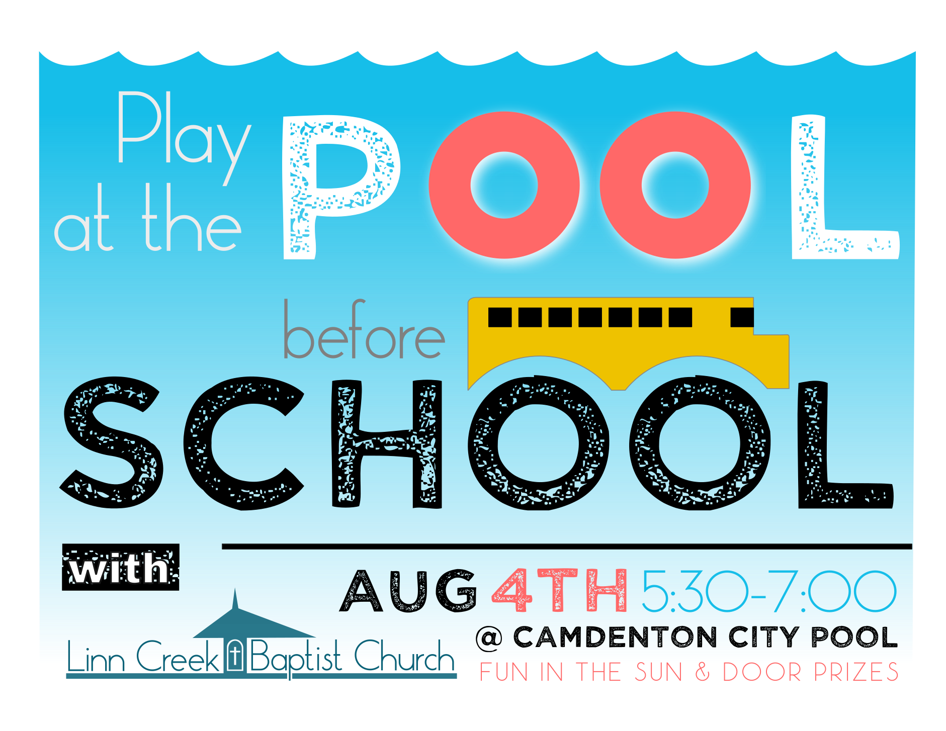 Back To School Pool Party @ Camdenton, Mo City Pool